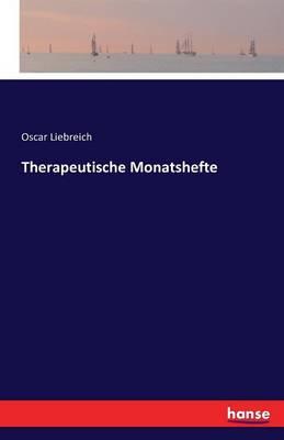 Therapeutische Monatshefte (Paperback)