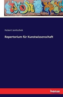 Repertorium Fur Kunstwissenschaft (Paperback)