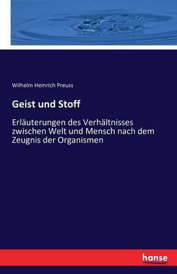 Geist Und Stoff (Paperback)