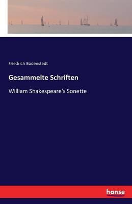 Gesammelte Schriften (Paperback)
