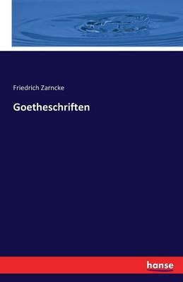 Goetheschriften (Paperback)