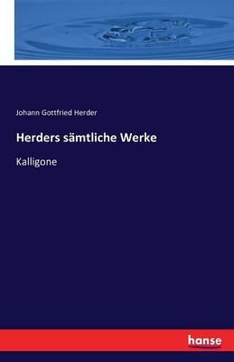 Herders Samtliche Werke (Paperback)