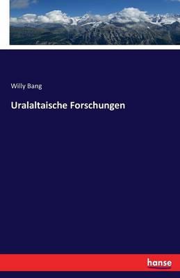 Uralaltaische Forschungen (Paperback)