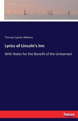 Lyrics of Lincoln's Inn (Paperback)