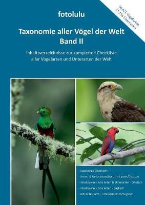Taxonomie Aller V gel Der Welt - Band II (Paperback)