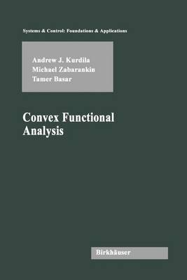Convex Functional Analysis - Systems & Control: Foundations & Applications (Hardback)