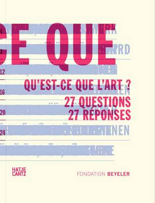 L'art c'est quoi? (French Edition): 27 Questions27 Reponses (Hardback)