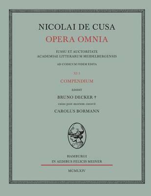 Nicolai de Cusa Opera Omnia / Nicolai de Cusa Opera Omnia (Paperback)