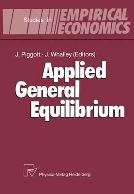 Applied General Equilibrium - Studies in Empirical Economics (Hardback)