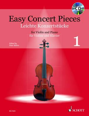Easy Concert Pieces for Violin and Piano + CD: Includes CD of Performances and Backing Tracks