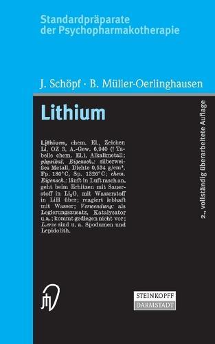 Standardpraparate Der Psychopharmakotherapie. Lithium (Paperback)