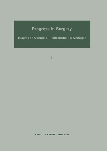 Progress in Surgery - Progress in Surgery 1 (Hardback)