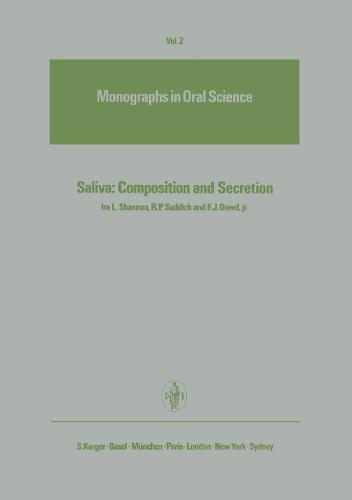 Saliva: Composition and Secretion - Monographs in Oral Science 2 (Hardback)