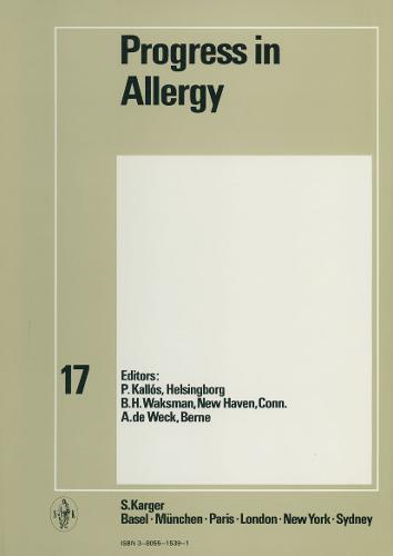 Progress in Allergy Vol. 17 - Chemical Immunology and Allergy 17 (Hardback)