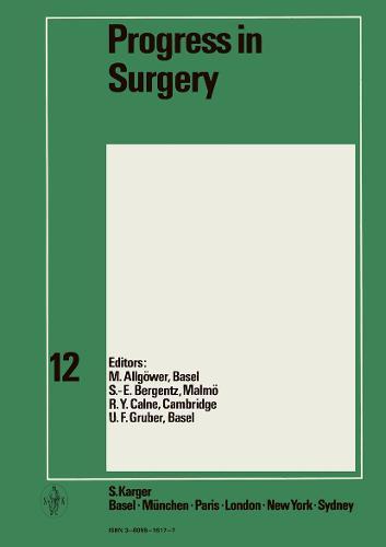 Progress in Surgery - Progress in Surgery 13 (Hardback)