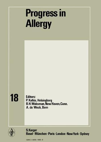 Progress in Allergy Vol. 18 - Chemical Immunology and Allergy 18 (Hardback)