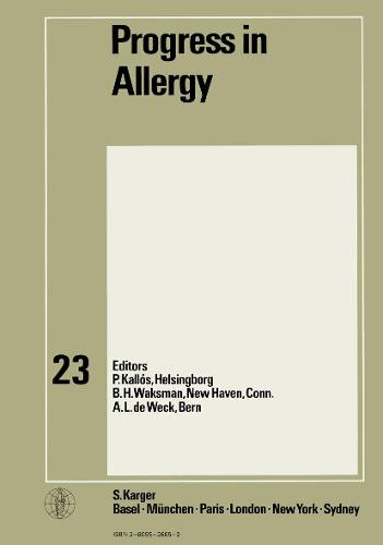 Progress in Allergy Vol. 23 - Chemical Immunology and Allergy 23 (Hardback)