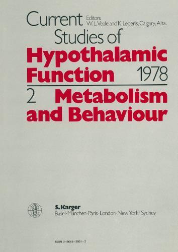 Metabolism and Behaviour (Hardback)