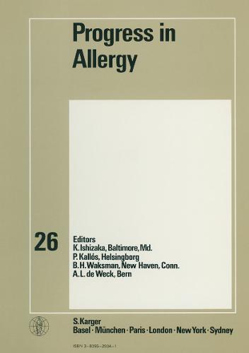 Progress in Allergy Vol. 26 - Chemical Immunology and Allergy 26 (Hardback)