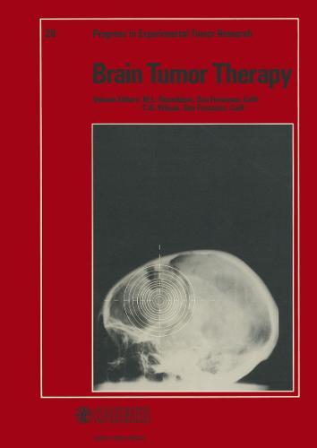 Brain Tumor Therapy - Progress in Tumor Research 28 (Hardback)