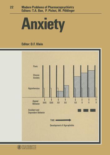 Anxiety - Modern Trends in Pharmacopsychiatry 22 (Hardback)