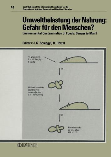 """Environmental Contamination of Foods: Symposium """"Schadstoffbelastung der Nahrung Durch die Umwelt - Gefahr fur den Menschen?"""" Durchgefuhrt von der Internationalen Stiftung zur Forderung der Ernahrungsforschung und Ernahrungsaufklarung, Zurich, Oktober 1986 - Forum of Nutrition 41 (Hardback)"""