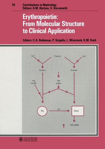 Erythropoietin: From Molecular Structure to Clinical Application: International Workshop, Cologne, March 1989. - Contributions to Nephrology 76 (Hardback)