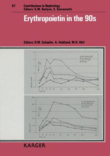Erythropoietin in the 90s: International Symposium, Wurzburg, March 1990. - Contributions to Nephrology 87 (Hardback)