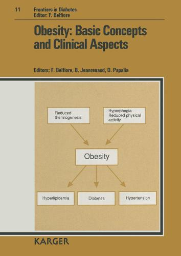 Obesity: Basic Concepts and Clinical Aspects: 11th Congress of the Italian Union Against Obesity, Catania, March 1990: Proceedings. - Frontiers in Diabetes 11 (Hardback)