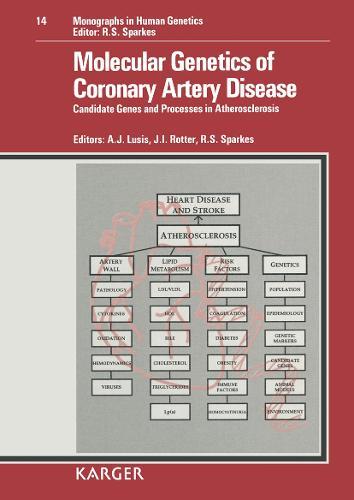 Molecular Genetics of Coronary Artery Disease: Candidate Genes and Processes in Atherosclerosis. - Monographs in Human Genetics 14 (Hardback)