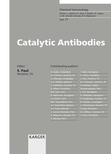 Catalytic Antibodies - Chemical Immunology and Allergy 77 (Hardback)