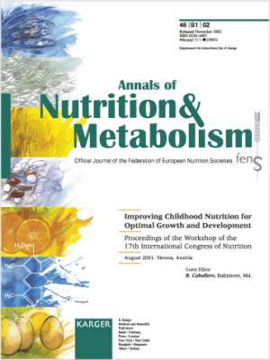 Improving Childhood Nutrition for Optimal Growth and Development: Workshop of the 17th International Congress of Nutrition, Vienna, August 2001: Proceedings. Supplement Issue: Annals of Nutrition and Metabolism 2002, Vol. 46, Suppl. 1 (Paperback)