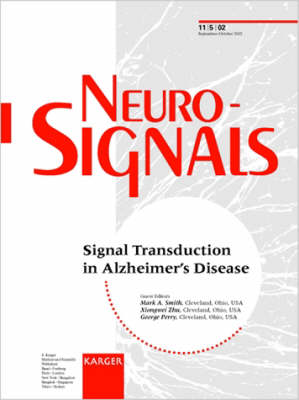 Signal Transduction in Alzheimer's Disease: Special Topic Issue: Neurosignals 2002, Vol. 11, No. 5 (Paperback)