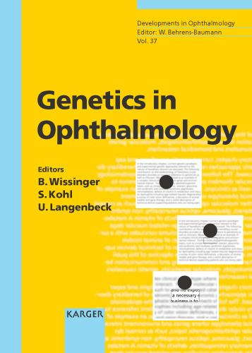 Genetics in Ophthalmology - Developments in Ophthalmology 37 (Hardback)