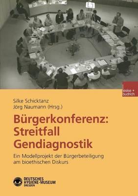 Burgerkonferenz: Streitfall Gendiagnostik (Paperback)