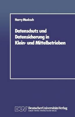 Datenschutz Und Datensicherung in Klein- Und Mittelbetrieben (Paperback)