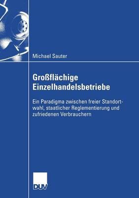 Gro fl chige Einzelhandelsbetriebe: Ein Paradigma Zwischen Freier Standortwahl, Staatlicher Reglementierung Und Zufriedenen Verbrauchern - Wirtschaftswissenschaften (Paperback)