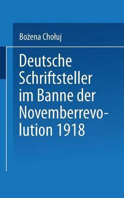 Deutsche Schriftsteller Im Banne Der Novemberrevolution 1918: Bernhard Kellermann, Lion Feuchtwanger, Ernst Toller, Erich M hsam, Franz Jung - Literaturwissenschaft (Paperback)