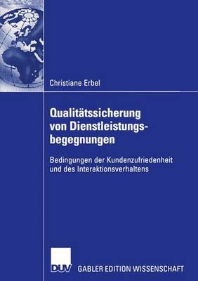 Qualitatssicherung von Dienstleistungsbegegnungen (Paperback)