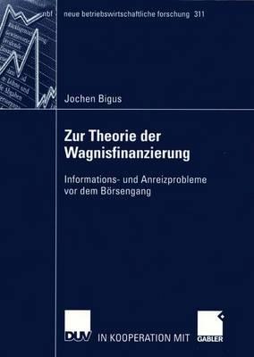 Zur Theorie der Wagnisfinanzierung - Neue Betriebswirtschaftliche Forschung (NBF) 311 (Paperback)
