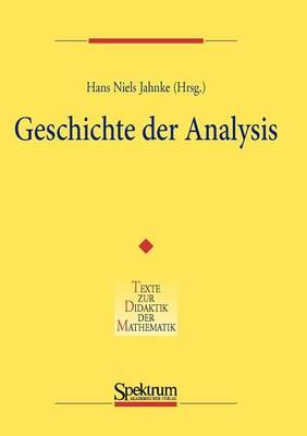 Geschichte Der Analysis (Paperback)