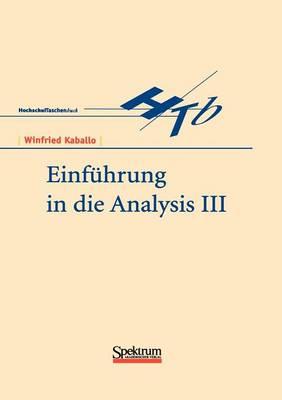 Einf hrung in Die Analysis III (Paperback)