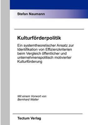 Kulturf Rderpolitik (Paperback)