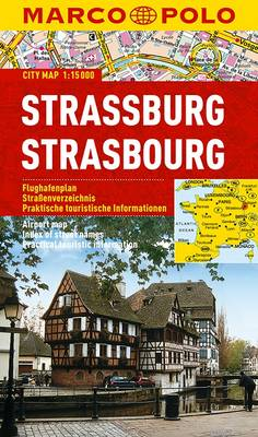 Strasbourg Marco Polo City Map - Marco Polo Maps (Multilingual) (Sheet map, folded)