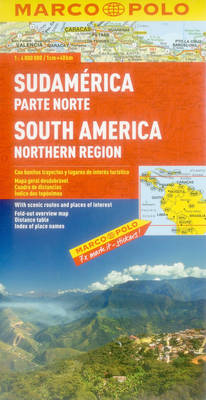 South America North Marco Polo Map - Marco Polo Maps (Multilingual) (Sheet map, folded)