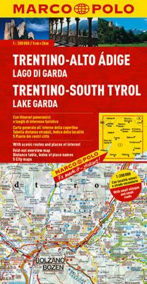 Italy - Trentino - South Tyrol, Lake Garda Marco Polo Map - Marco Polo Maps (Multilingual) (Sheet map, folded)