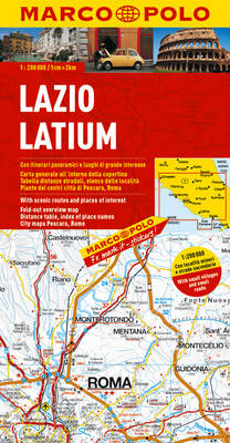 Italy - Lazio (Latium) Marco Polo Map - Marco Polo Maps (Multilingual) (Sheet map, folded)