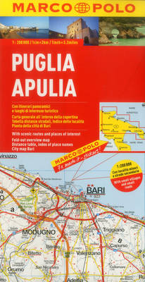 Italy - Puglia (Apulia) Marco Polo Map - Marco Polo Atlases (Multilingual) (Sheet map, folded)