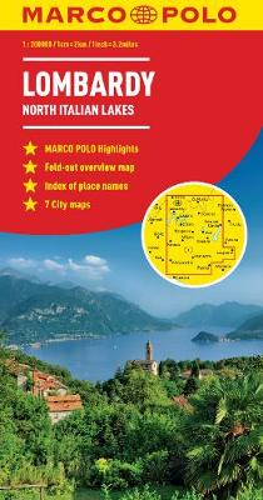 Lombardy Marco Polo Map (North Italian Lakes) (Sheet map, folded)