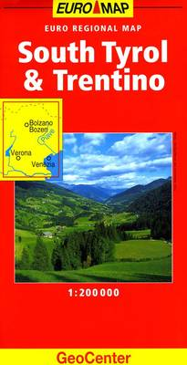 South Tyrol and Trentino GeoCenter Euro Map - GeoCenter Euro Map S. (Sheet map, folded)